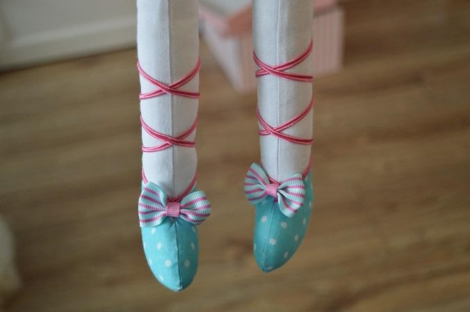 króliczek z materiału baletnica